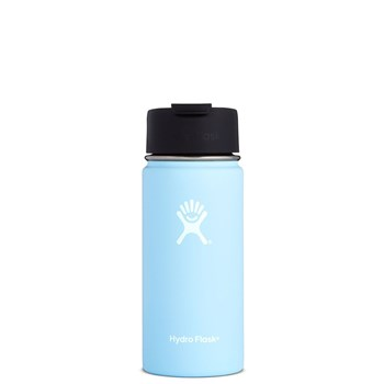 Hydro Flask Wide Mouth Insulated Drink Bottle with Flip Lid 473ml/16oz Frost Blue
