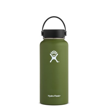 Hydro Flask Wide Mouth Stainless Steel lnsulated Drink Bottle 946ml/32oz Olive Green
