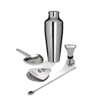 Uberbartools ProShaker 5 Piece Cocktail Set Chrome