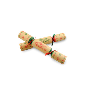 Party Temptation Merry Christmas Set of 6 Christmas Crackers