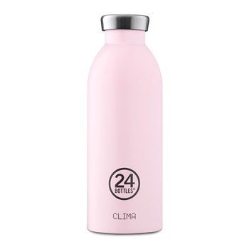 24Bottles Pastel Collection Clima Bottle Stainless Steel Drink Bottle 500ml Candy Pink