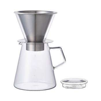 Kinto Carat Glass Pour Over Drip Coffee Pot Set 720ml