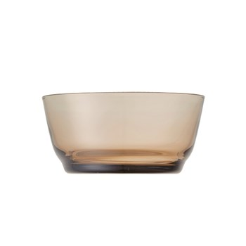 Kinto Hibi Glass Bowl 12.5cm Brown