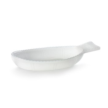 Serax Fish & Fish Collection Glass Fish Dish Deep Milky White