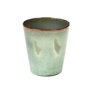 Serax Terres de Reves Collection Stoneware Conical Goblet Medium Misty Grey