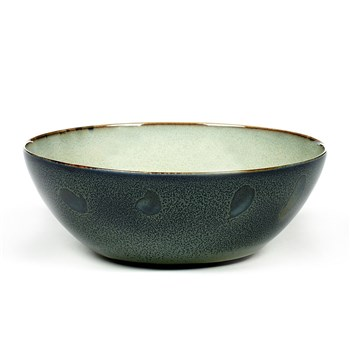 Serax Terres de Reves Collection Stoneware Bowl Large Misty Grey/Dark Blue