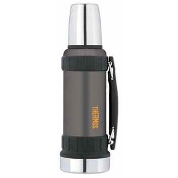 Thermos Work Series Stainless Steel 1.2L Vacuum Insulated Flask Gunmetal Grey