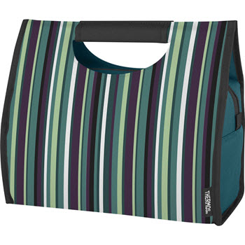 Thermos Raya Premium Green Stripe 6 Can Cooler Tote