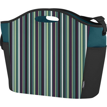 Thermos Raya Premium Green Stripe 24 Can Cooler Tote