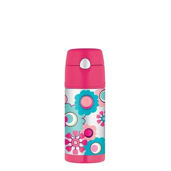 Thermos FUNtainer Straw Water Bottle 355ml Flower
