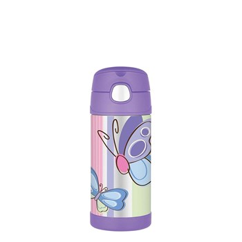 Thermos FUNtainer 355ml Drink Bottle Purple Butterfly