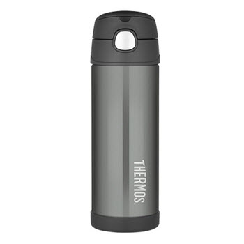 Thermos FUNtainer 470ml Drink Bottle Stainless Steel Vacuum Insulated Charcoal