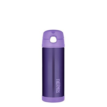 Thermos FUNtainer 470ml Drink Bottle Stainless Steel Vacuum Insulated Purple