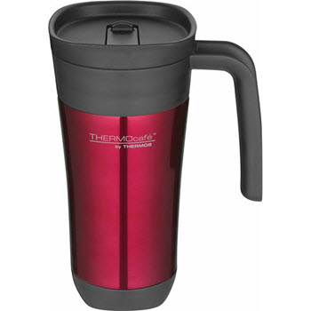 THERMOcafe Stainless Steel 470ml Outer Foam Insulated Travel Mug Red