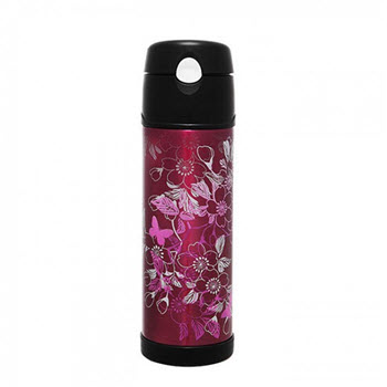 Thermos 530ml Vacuum Hydration Drink Bottle SS Magenta