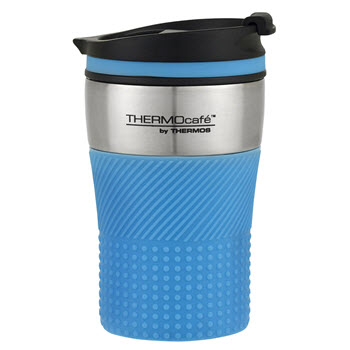 Thermos THERMOcafe Stainless Steel Vacuum Insulated Travel Cup 200ml Blue