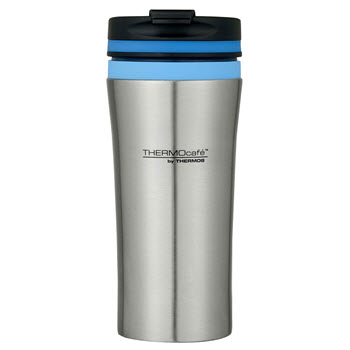 Thermos Stainless Steel Double Wall Vacuum Insulated 380ml Travel Tumbler Blue
