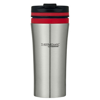 Thermos Stainless Steel Double Wall Vacuum Insulated 380ml Travel Tumbler Red