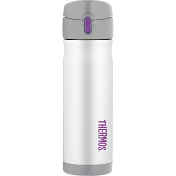 Thermos 470ml Commuter Bottle Stainless Steel Vacuum Insulated White