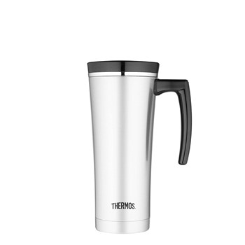 Thermos Sipp Stainless Steel 470ml Vacuum Insulated Travel Mug Black Trim