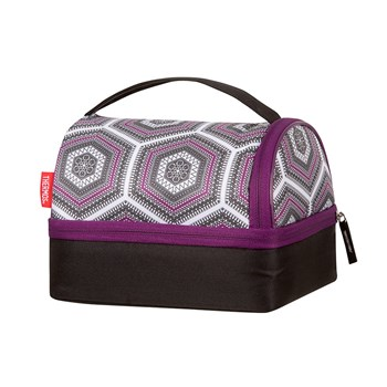 Thermos Raya Polyester Pack-In Lunch Bag 23 x 18 x 20cm Purple Hexagon