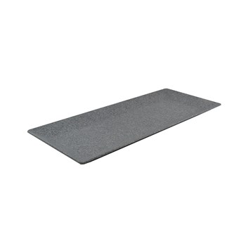 Jab Concrete Melamine Platter with Raised Rim 44 x 27cm Grey