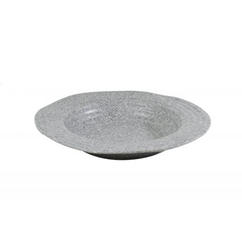 Jab Stone Grey Ripple Effect Round Organic Bowl 150 x 60mm