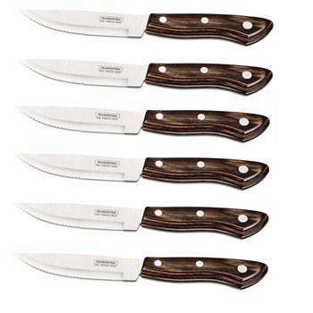 Tramontina Churrasco Gramado 6 Piece Jumbo Steak Knife Set 12cm