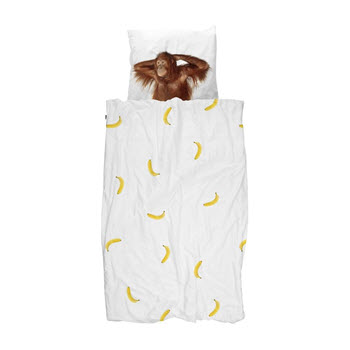 Snurk Banana Monkey Quilt Set King Single