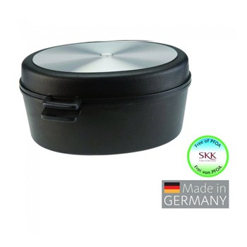 SKK Diamant 3000 Oval Roaster with Aluminium Lid 10L Black