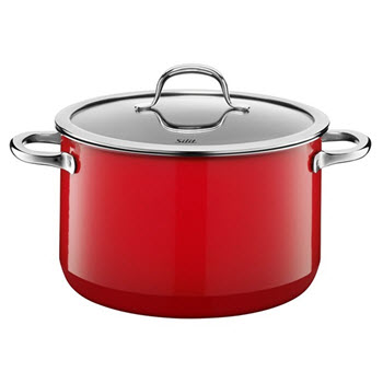 Silit Passion Colours 24cm Energy Red High Casserole with Lid
