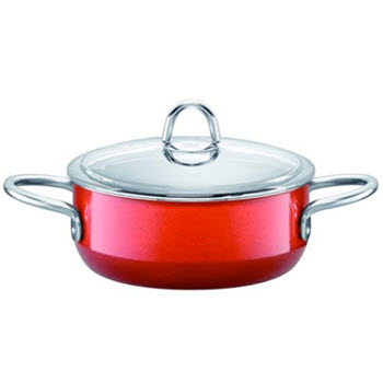 Silit Passion Colours 20cm Low Casserole With Lid Energy Red