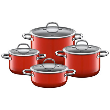 Silit Passion Red 4 Piece Cookware Set