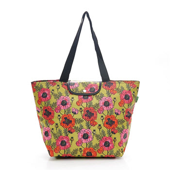 Eco Chic Large Foldable Cool Bag Poppies Yellow