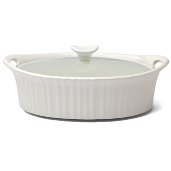 Corningware 2.35L Oval Casserole French White