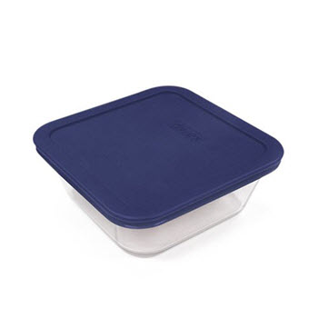 Pyrex Simply Store 4 Cup/950ml Square Container Blue