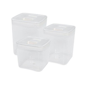ClickClack Large Pantry Cube White Set of 3