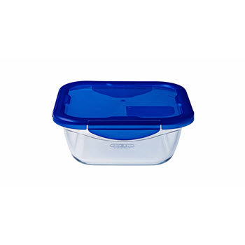 Pyrex Cook & Go Square Roaster with Lid 0.8L