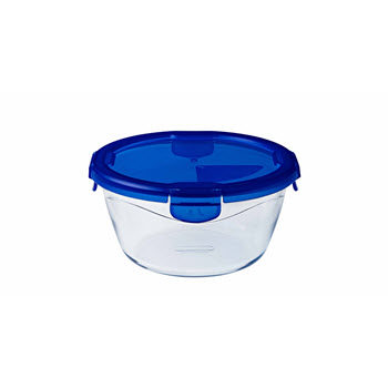 Pyrex Cook & Go Round Dish with Lid 0.7L