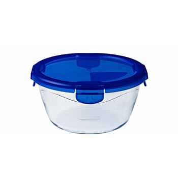 Pyrex Cook & Go Round Dish with Lid 1.6L