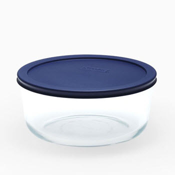 Pyrex Simply Store 7 Cup/1.65L Round Container Blue
