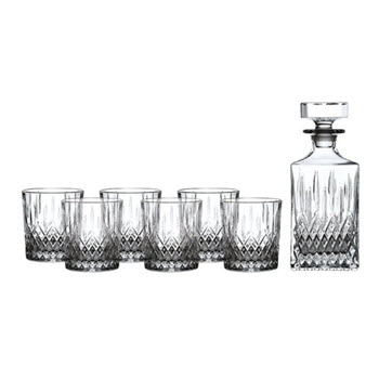 Royal Doulton Earlswood 7 Piece Decanter & Tumbler Set