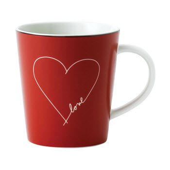 Royal Doulton Ellen Degeneres Red Heart Mug 465ml