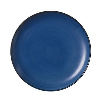 Royal Doulton Ellen Degeneres Dinner Plate 28cm Cobalt Blue Brush Glaze