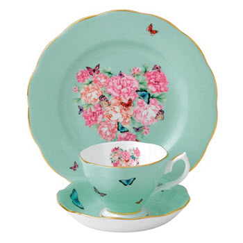 Royal Albert Miranda Kerr Blessings Teacup, Saucer & 20cm Plate