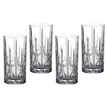Waterford Marquis Sparkle Set of 4 Hi Ball Glass