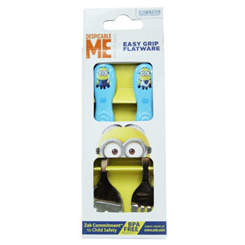 Zak Minions 2 Piece Cutlery Set