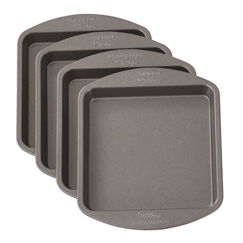 Wilton 4pc Square Easy Layer Pan 6inch