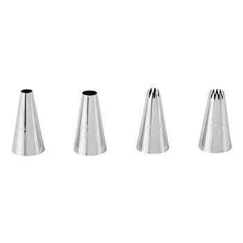 Wilton Stainless Steel 4 Piece Large Piping Tip Set