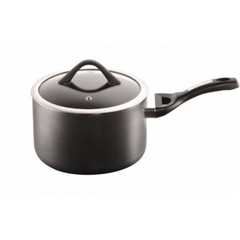 Baccarat iD3 CS Hard Anodised Saucepan 18 x 11cm with Lid & Bakelite handle